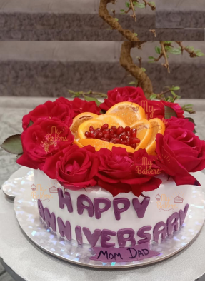 Anniversary cake For Mom Dad