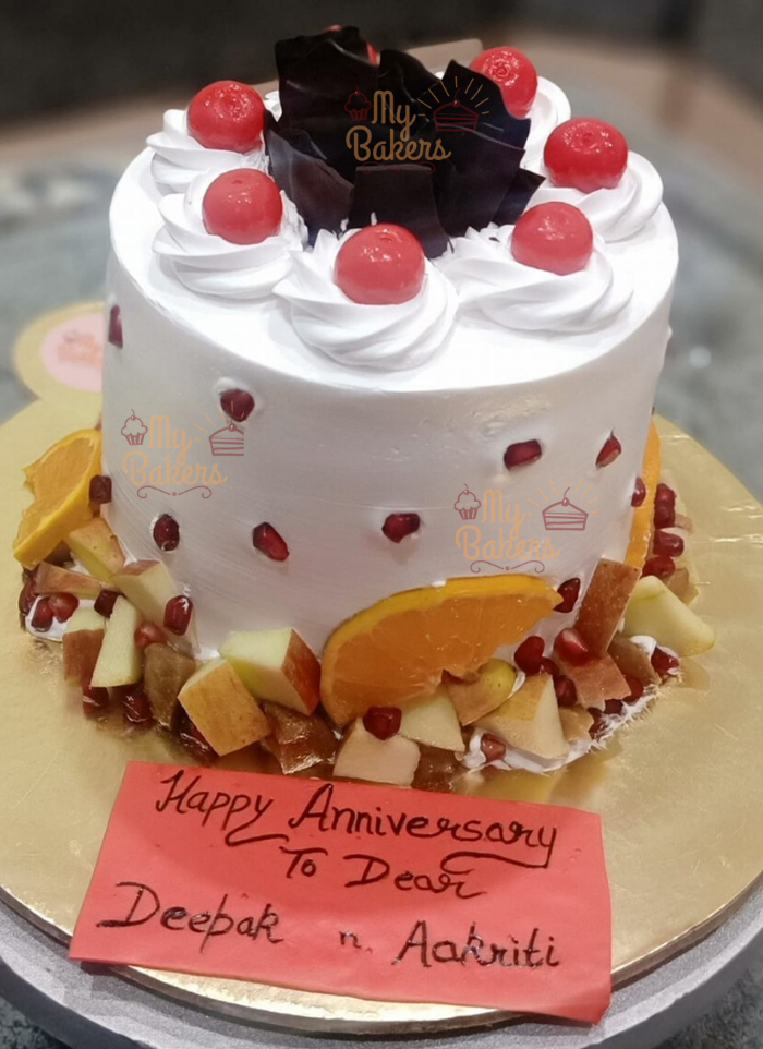 Anniversary Cake For Dear Ones Fresh Fruits