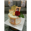 Anniversary Cake With Edible Photo Frame