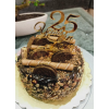 Nutty Chocolate Cake 25th Anniversary Gold