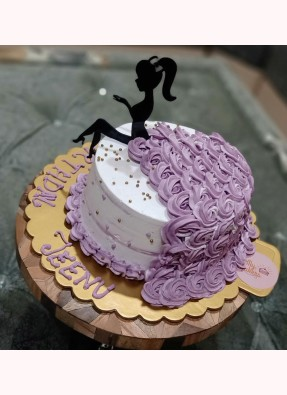 Amazing Girl Theme Birthday Cake