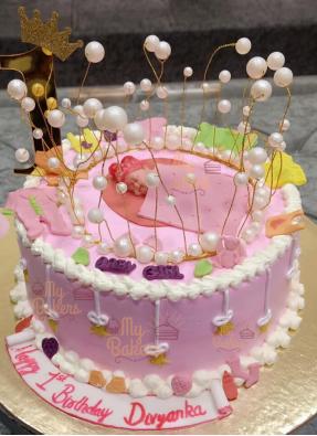 1st Birthday Celebration Cake For Baby Girl