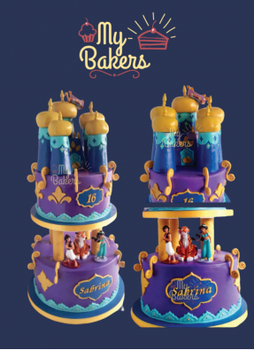 Beautiful Aladdin Jasmine Theme Birthday Cake