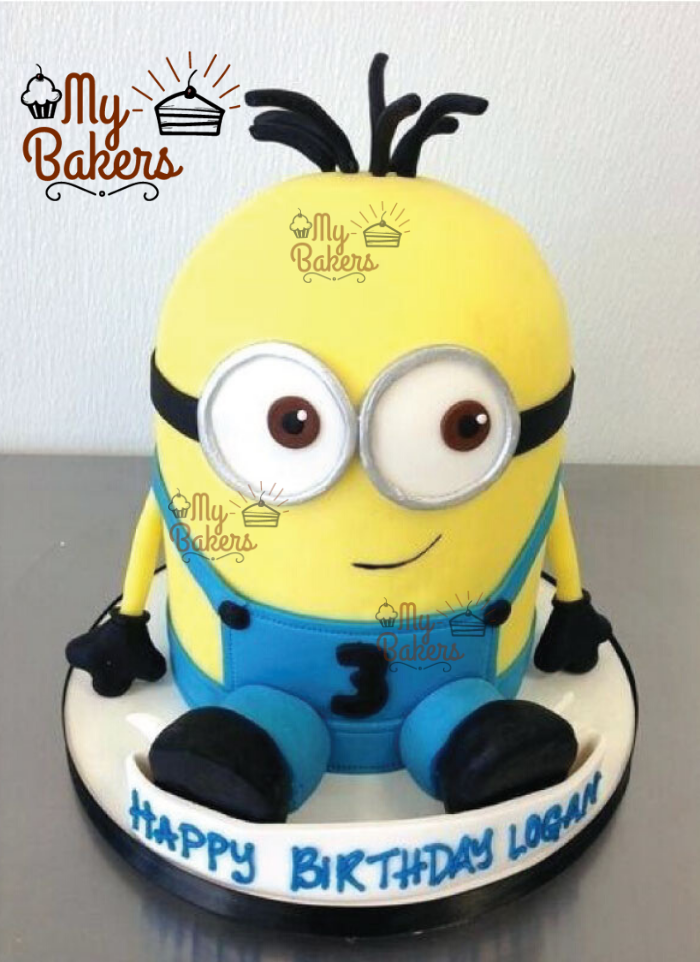 Beautiful Minion Theme Cake