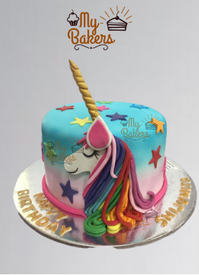 Colourful Unicorn Theme Cake
