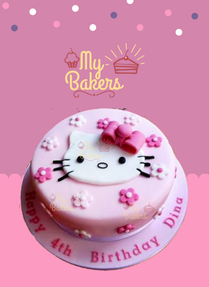 Delicious Hello Kitty Theme Cake