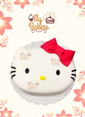 Delightful Hello Kitty Theme Cake