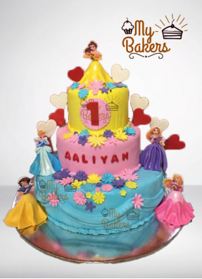 Disney Princess Theme Cake