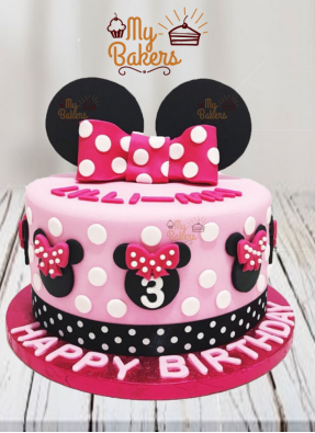 Exclusive Minnie Mouse Theme Cake