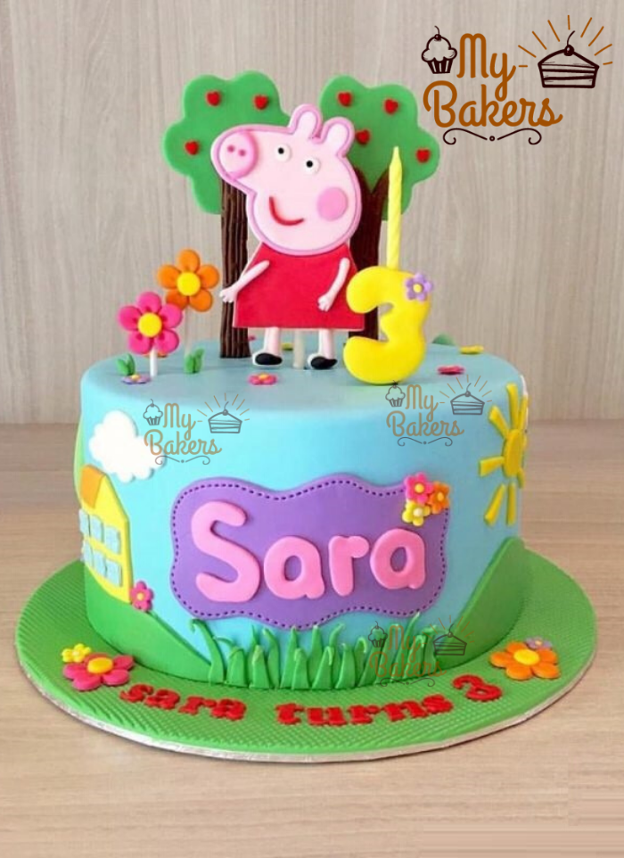 Exclusive Peppa Pig Theme Cake