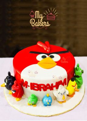 7 Edible Angry Birds Theme Cake
