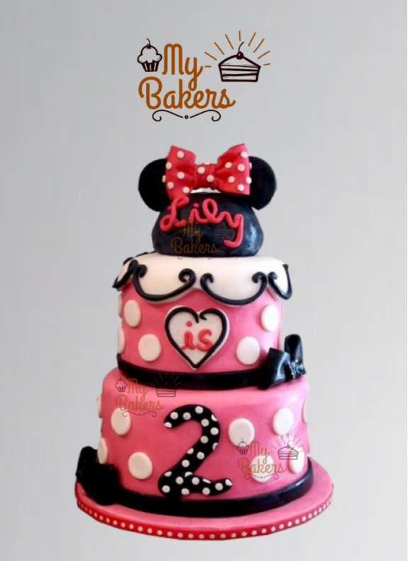Lovely Mickey Mouse 2 Tier Cake