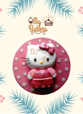 Luscious Hello Kitty Cake