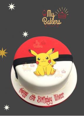 Luscious Pikachu Theme Cake