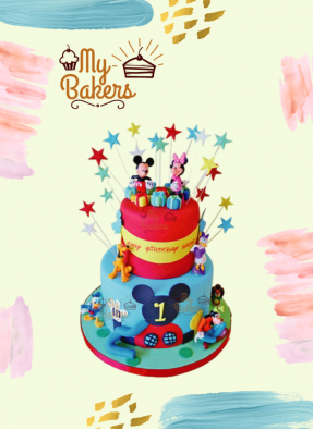 Mickey And Minnie Club House Cake