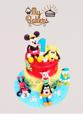 Mickey Mouse And His Friends Theme Cake