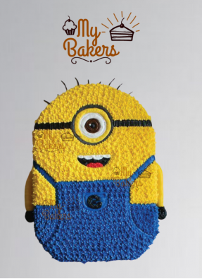 Minion Cartoon Birthday Cake