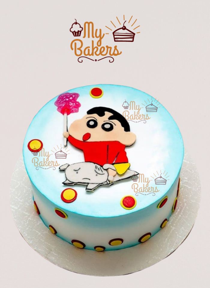 Naughty Shinchan Theme Cake