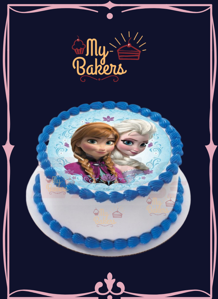 Frozen Theme Photo Cake