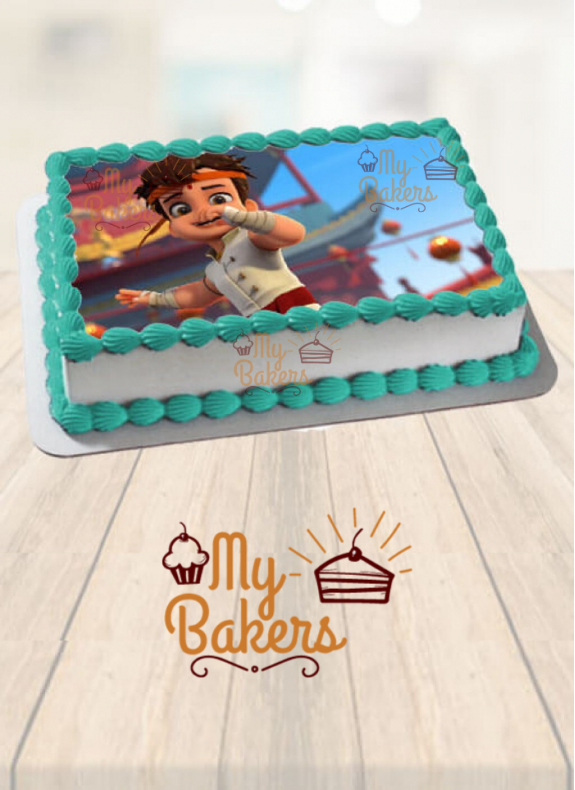 Kung Fu Chotta Bheem Theme Photo Cake