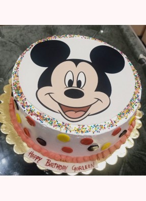 Mickey Mouse Theme Photo Cake