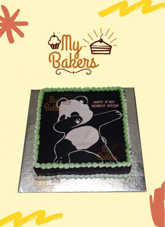 Panda Theme Photo Cake