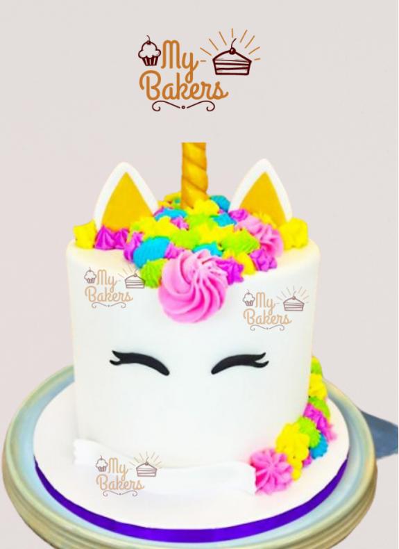 Pretty Unicorn Theme Cake