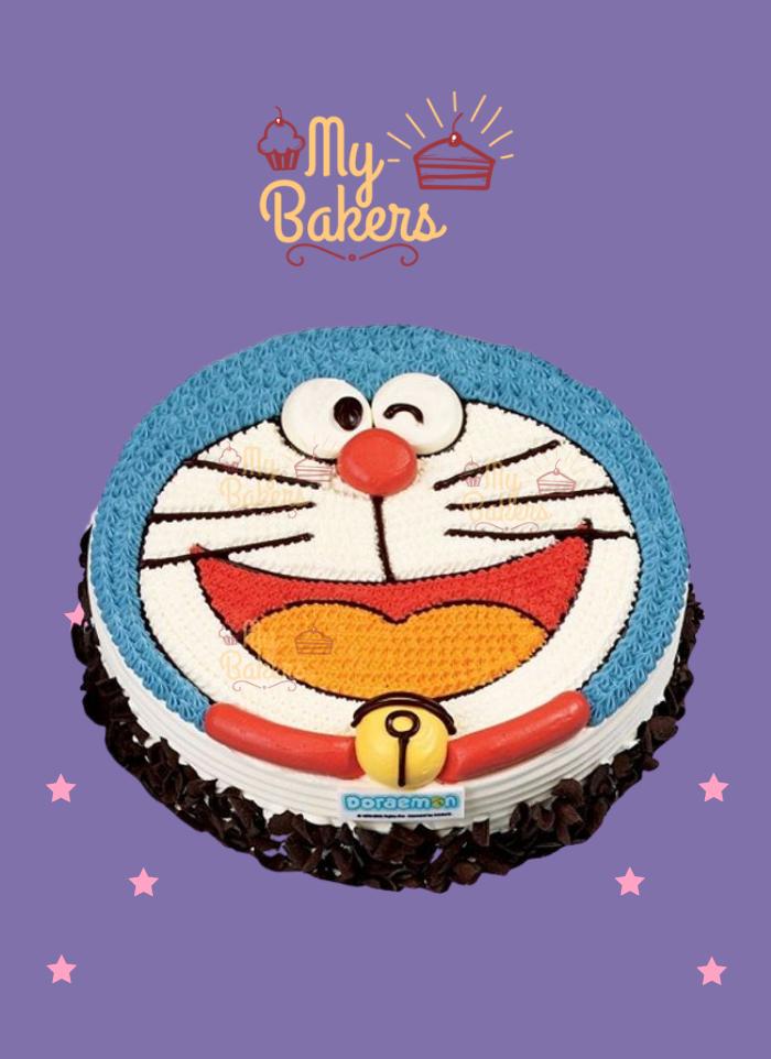 Smiling Doraemon Cake