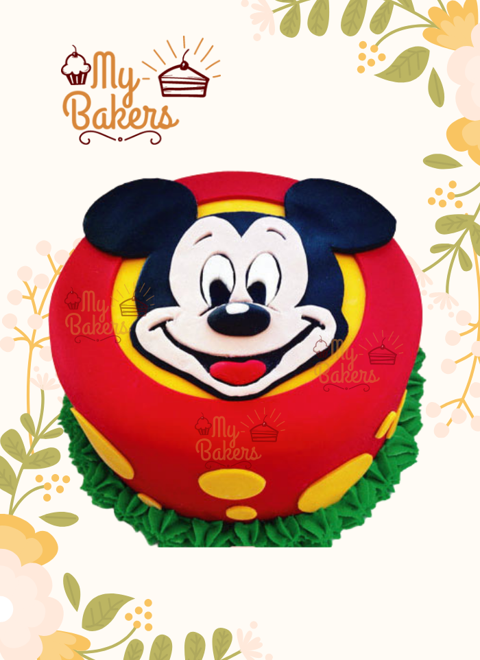 Smiling Mickey Mouse Theme Cake