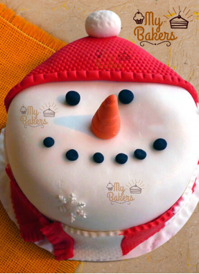 Snowman Theme Cake