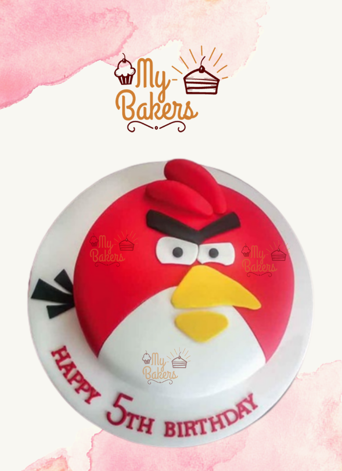 Tasty Angry Bird Theme Cake