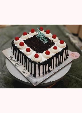 Delicious Black Forest Birthday Cake