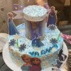 Frozen Theme Surprise Birthday Cake