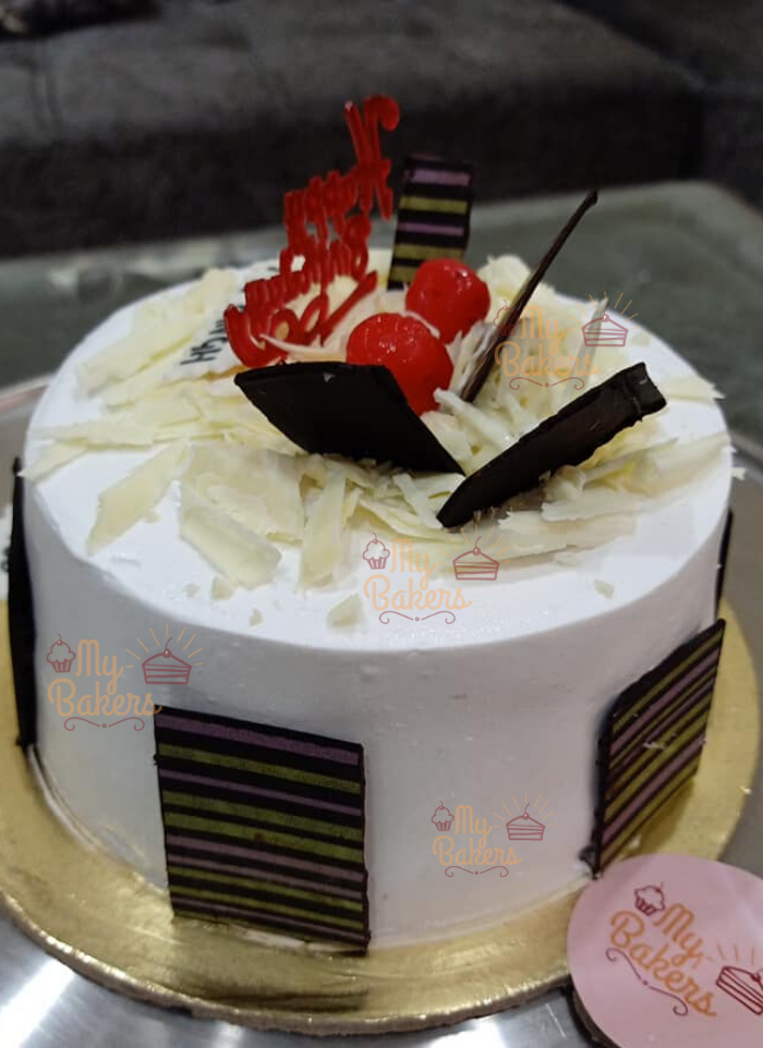 White Forest Birthday Cake