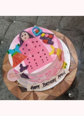 Lazy Girl Theme Birthday Cake