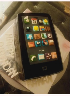 Mobile Phone Theme Birthday Cake