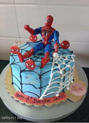 Spider Man Theme Birthday Cake