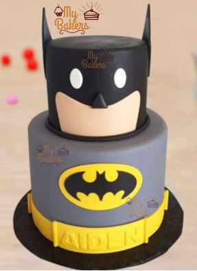 Delicious Batman Theme Cake