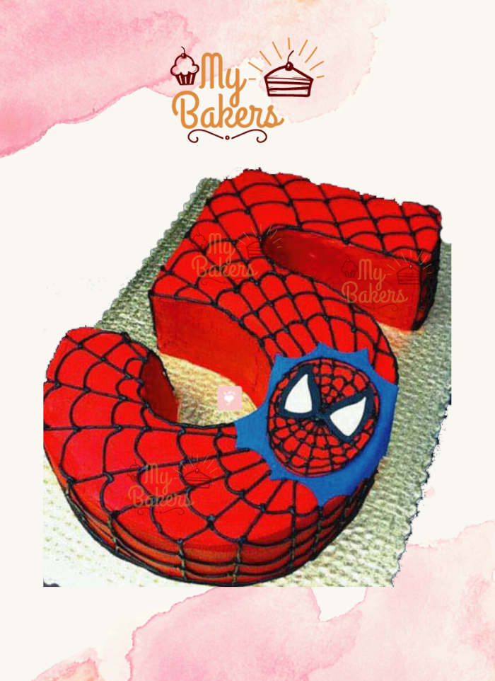 Flavourful Spiderman Theme Cake