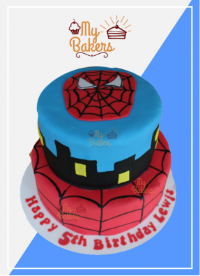 Flavorous Spiderman Theme Cake