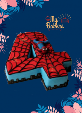 Finger Licking Spiderman Theme Cake