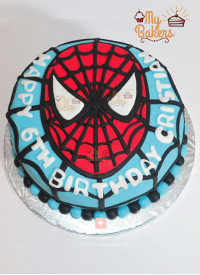 Delightful Spiderman Theme Cake