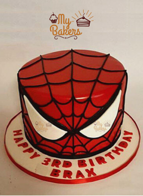 Adorable Spiderman Theme Cake