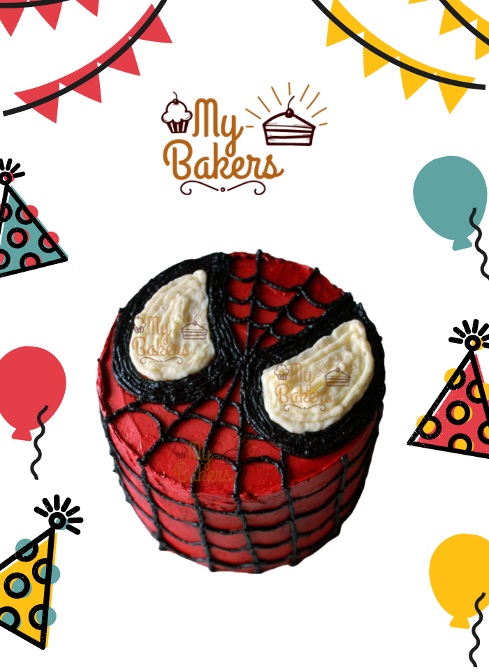Heavenly Spiderman Theme Cake