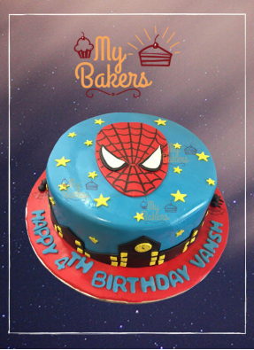 Divine Spiderman Theme Cake
