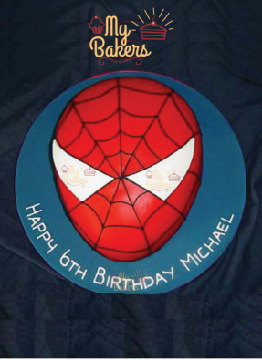 Lovely Spider Man Theme Birthday Cake