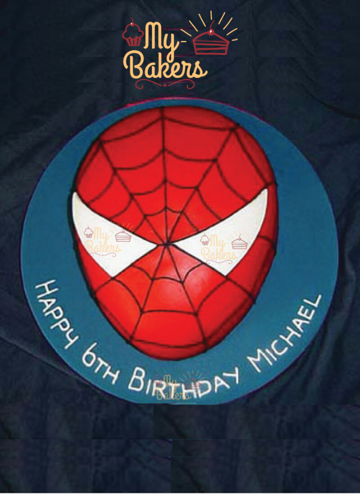 Lovely Spider Man Theme Birthday Cake