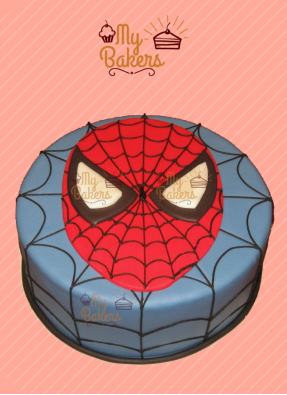 Delicious Spiderman Theme Cake