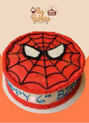 Luscious Spiderman Theme Cake