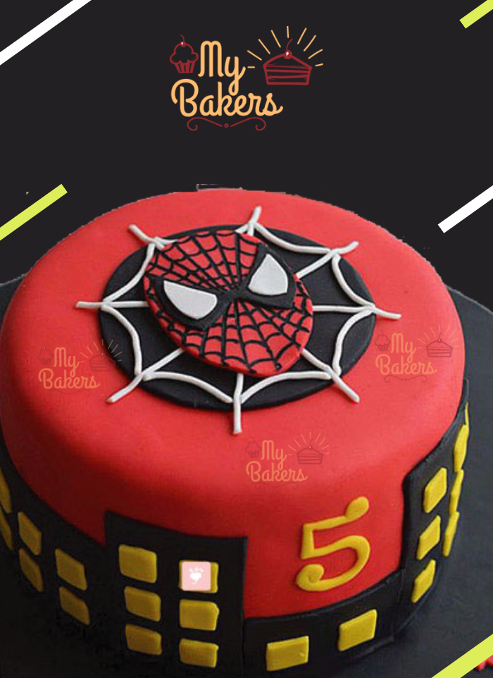 Delectable Spiderman Theme Cake